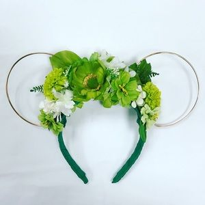 Tinkerbell Inspired Rose Wire Floral Mouse Ears